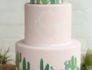 Unique cactus Cake with hand-painted details | 10 Delightfully Delicious Cakes - Tinyme Blog