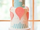 Gorgeous pastel hot air balloon baby shower cake | 10 Delightfully Delicious Cakes - Tinyme Blog