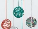 Sculpted Yarn Balls | 10 DIY Baby Mobiles - Tinyme Blog