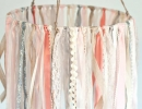 Baby Ribbon & Lace Hanging Mobile | 10 DIY Baby Mobiles - Tinyme Blog