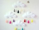 Rain Cloud Mobile | 10 DIY Baby Mobiles - Tinyme Blog