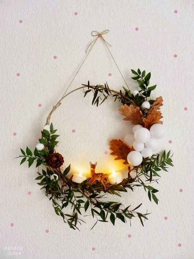 10 diy christmas wreaths tinyme blog Simple christmas wreaths