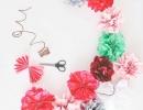 Tissue paper flower garland | - Tinyme Blog
