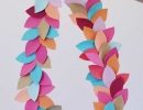 Gorgeously festive paper leaf garland | - Tinyme Blog