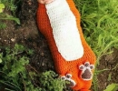 Cute baby crochet cocoon fox costume | 10 DIY Kids Costumes - Tinyme Blog