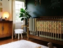 Perfect combination of ethnic design and dark wall | 10 Dramatically Dark Kids Rooms - Tinyme Blog