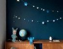 Adorable glow in the dark sticker stars let your child fall asleep under the stars every night | 10 Dramatically Dark Kids Rooms - Tinyme Blog