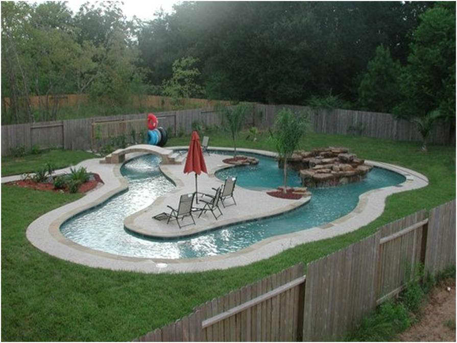 Awesome Backyard Pools : Take a dip in the lazy river pool!  10 Dream Backyards  Tinyme Blog