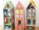 Adorable cardboard brownstone dollhouses | 10 Dreamy Doll Houses - Tinyme Blog