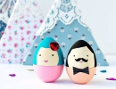 Mr and Mrs Egg | 10 Easter Egg Decorating Ideas - Tinyme Blog