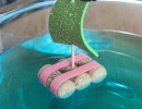 Sparkly cork sail boats | 10 Educational Kids Crafts - Tinyme Blog