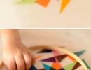 DIY Colorful geometric sun catcher | 10 Educational Kids Crafts - Tinyme Blog