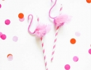 DIY flamingo straws | 10 Fabulous Flamingo DIYS - Tinyme Blog
