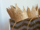 Pretty Gold Lace Crowns | 10 Fanciful Party Crowns - Tinyme Blog