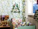 Floral wallpaper and illustrations come together perfectly | 10 Floral Girls Rooms - Tinyme Blog