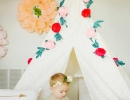 An innocent girly-girl backdrop | 10 Floral Girls Rooms - Tinyme Blog