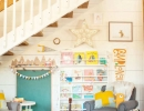 Adorable reading nook under the stairs | 10 Fun & Friendly Kids Playrooms Part 3 - Tinyme Blog