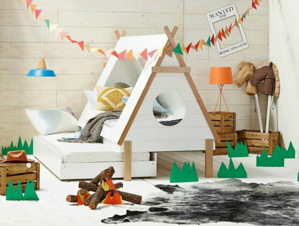 Beautifully Designed Tee Pee Kids Trundle Bed | 10 Fun Kids Bedrooms    Tinyme Blog