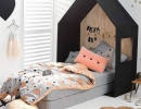 Bright colours & graphic prints add drama to this bedding set | 10 Fun & Loony Bed Linen - Tinyme Blog