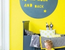 Eye-catching canary yellow wall | 10 Fun Wall Decor Ideas - Tinyme Blog