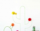 Awesome washi tape cactus wall art | 10 Fun Wall Decor Ideas - Tinyme Blog