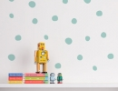 Cool Polka Dot wall stickers to add a bit of color to any wall | 10 Fun Wall Decor Ideas - Tinyme Blog