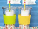 Reusable travel cup filled with packets of iced tea | 10 Gift Ideas for Teachers - Tinyme Blog