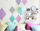 Cool pastel painted diamonds   10 Gorgeous Girls Rooms Part 6 - Tinyme Blog