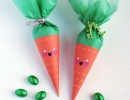 Easter carrot treat cones that's as stylish as it is tasty | 10 Inspiring Easter Crafts - Tinyme Blog