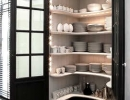 Built-in French door china cabinet | 10 Inspiring Pantry Designs - Tinyme Blog