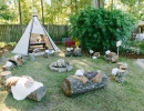 Birthday bash in adorable teepee | 10 Kids Backyard Party Ideas - Tinyme Blog