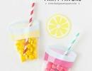 Summer quencher lemonade party favors | 10 Kids Party Favour Ideas - Tinyme Blog