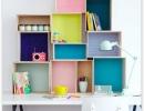 Awesome DIY box shelves | 10 Kids Study Nooks - Tinyme Blog