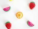 Adorable DIY miniature fruit magnets | 10 Kids Summer Activities + Crafts - Tinyme Blog
