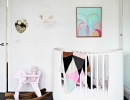 Whimsical black and white room for baby | 10 Light & Bright Nurseries - Tinyme Blog