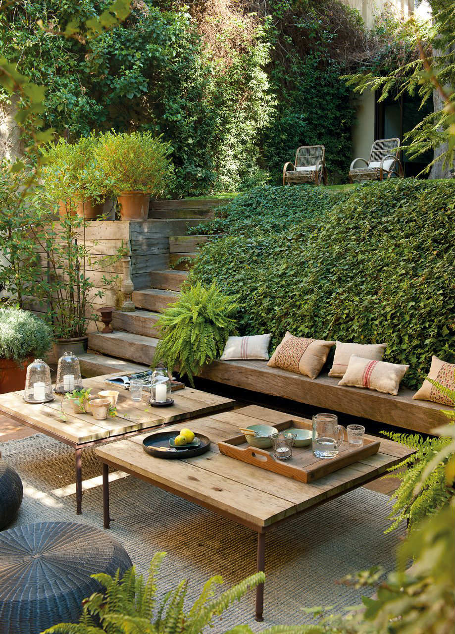 10 Magical Outdoor Areas Tinyme Blog # Muebles Para Roof Garden