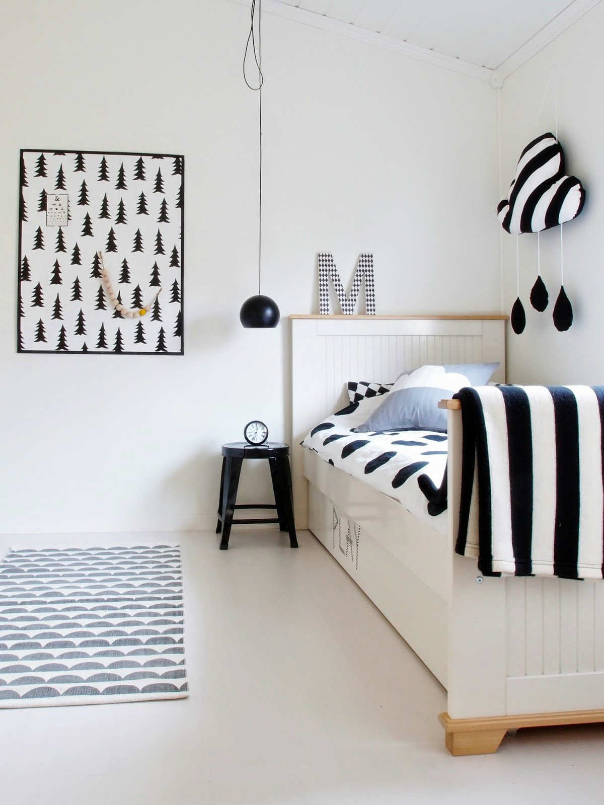 10 monochrome kids rooms tinyme blog for Deco maison noir et blanc