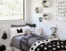 Gorgeous bedding and accessories | 10 Monochrome Kids Rooms - Tinyme Blog