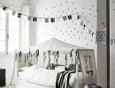 Beautiful Scandi-style bedroom | 10 Monochrome Kids Rooms - Tinyme Blog