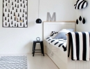 Black and white Scandinavian modern nursery | 10 Monochrome Kids Rooms - Tinyme Blog
