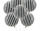 Spruce up your party with an eye-catching black and white striped balloons | 10 Monochrome Party Ideas - Tinyme Blog