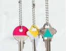 Cute DIY color block keys | 10 New Year Organisation Ideas - Tinyme Blog