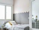 Stunning scalloped wall | 10 Nicely Nuetral Kids Rooms - Tinyme Blog