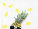 DIY pineapple stamped summer scarf | 10 Playful Pineapple DIY's - Tinyme Blog
