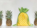 Cute and chic pineapple drawstring backpack | 10 Playful Pineapple DIY's - Tinyme Blog