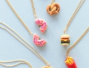 DIY Foodie Friendship Necklaces | 10 Pretzel DIY's - Tinyme Blog