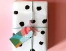 Sweet messy dots gift wrap | 10 Quirky Christmas Wrappings - Tinyme Blog