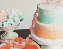 Stunning aqua and orange cake | 10 Simply Sweet Cakes - Tinyme Blog