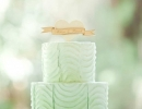 So sweet mint green and orange ombré cake | 10 Simply Sweet Cakes - Tinyme Blog