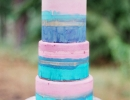 Abstract watercolor cake with a touch of gold! | 10 Simply Sweet Cakes - Tinyme Blog